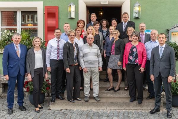 Die Jubilare 2018 der VR Bank Kitzingen eG
