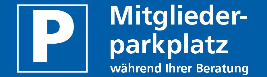 Mitgliederparkplatz der VR Bank Kitzingen eG