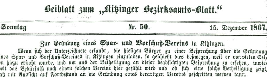 150 Jahre VR Bank Kitzingen eG